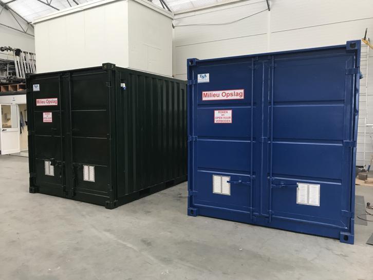 Voorbeeld 10ft Milieucontainer