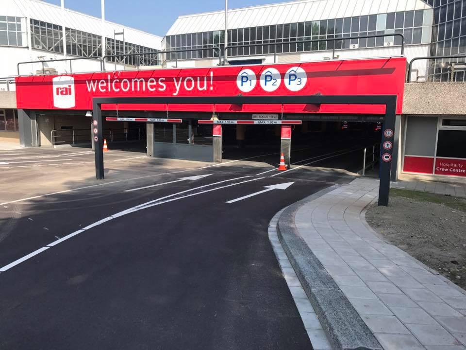 Hoogteportaal plaatsen voor Amsterdam RAI