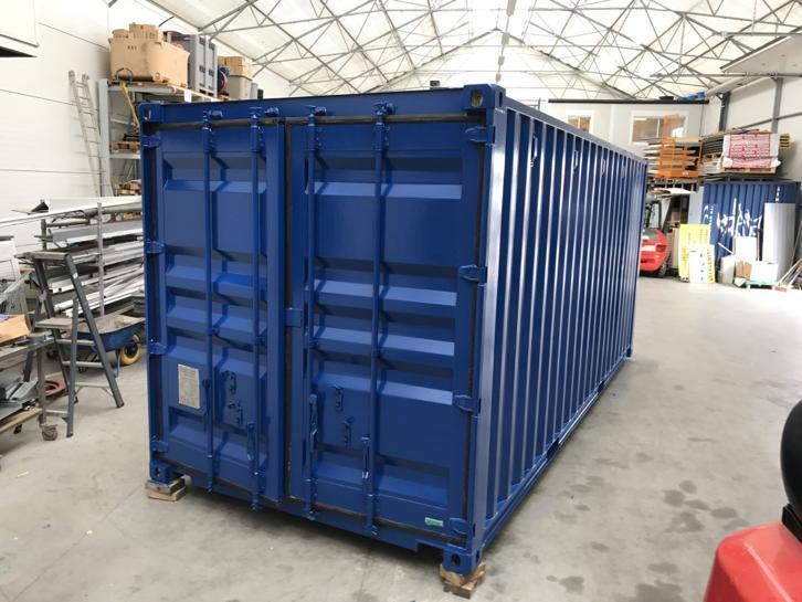 20ft container blauw