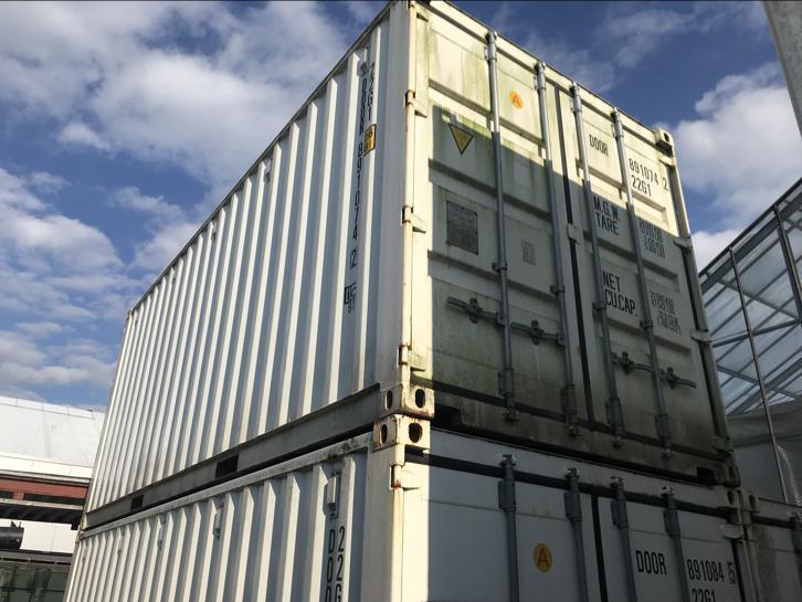 20ft container met op beide kopse kanten deuren